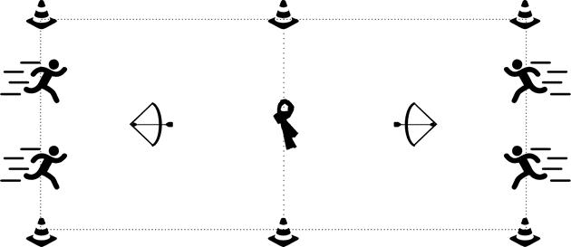 archery tag spelvariant dassen roof