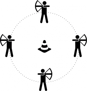archery tag spelvariant hunger games